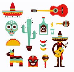 vector mexican - Buscar con Google