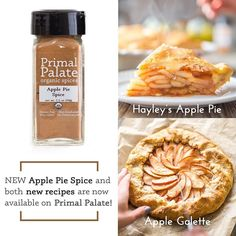 Our new Fall line of spices released today along with some brand new recipes! For our new Apple Pie Spice we've served up a delicious gluten-free Apple Pie recipe and a grain-free Apple Galette! More new recipes for the spices are on the way too! Let's cook together and get cozy this fall.  Find the recipes and check out all the new spices by clicking the link in our profile. Cheers!! H&B  #primalpalatespices #organic #nongmo #nonirradiated #kosher #glutenfree #nightshadefree