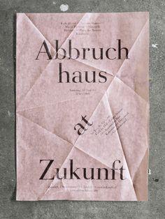 Abbruchhaus at Zukunft. Club flyer by Dominic Rechsteiner.