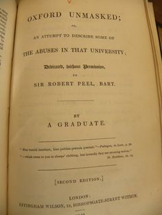 Seems the author wasn't happy with his fellow classmates 'sowing their wild oats' during their 4 years of university before they joined the clergy.