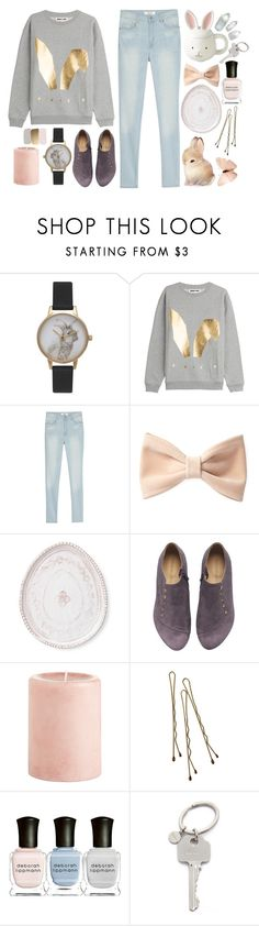 """Easter"" by rheeee ❤ liked on Polyvore featuring Olivia Burton, McQ by Alexander McQueen, MANGO, Forever 21, Vietri, Pier 1 Imports, Retrò, Deborah Lippmann and Paul Smith"