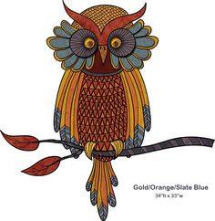 Wise Owl Wall Sticker - Giant Owl Wall Decal