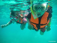 Snorkeling is just one of the many kid-friendly things to do in Cancun.