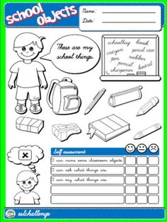 CLASSROOM OBJECTS - COVER + SELF ASSESSMENT FOR BOYS#