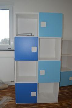 Meble dla dzieci - meble dziecięce - WYSOKI REGAŁ kolorowy - elies.pl