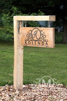 DIY Custom Outdoor Sign, Yard Sign, Personalized Yard Sign, Driveway Sign Idea....