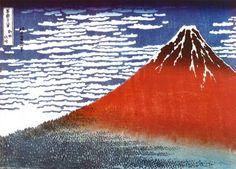 Hokusai - Red Fuji
