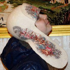 felt cap - Ushanka Russian style by MagikfeltAntonio on Etsy