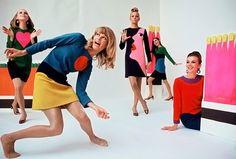 1966 Yves Saint Laurent pop art dresses