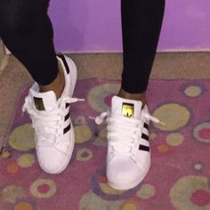 adidas superstar 5y which is womens 7. sold out everywhere. Near brand new! Adidas Shoes Athletic Shoes