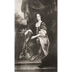 Frances Pierrepont nee Cavendish 1548 - 1632 Wife of Sir Henry Pierrepont 2nd Duke of Newcastle After a contemporary work Canvas Art - Ken Welsh Design Pics (10 x 18)