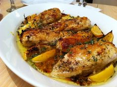 recipe baked herb lemon chicken ingredients 4 split chicken breasts ...
