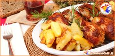 ⇒ Cosce di pollo impanate al forno con patate | il Gallo al Grill.it