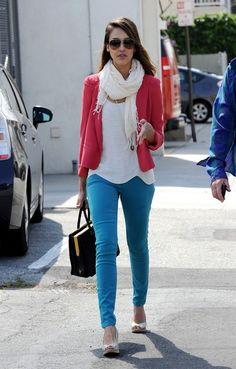 Pink blazer..