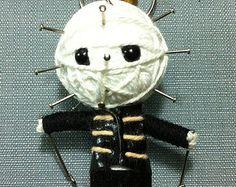 Hellraiser Horror Movie Pinhead Killer String Voodoo Doll Keyring Keychain film cartoon Key Ring Key Chain handmade funny  Bag small gift