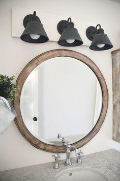 DIY Farmhouse Bathroom Vanity Light Fixture Pinterest Vanity - Primitive bathroom lighting