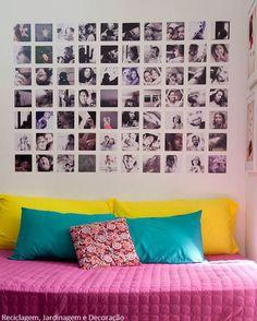 Fotos simétricas en pared