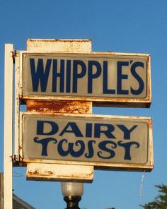 Whipple's Dairy Twist....between Columbus & Youngstown, Ohio