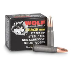 Wolf Ammunition is great for high-volume shooting and is made for reliable ignition in adverse conditions. - See more at: http://www.precisionsouthammo.com/shop/wolf-7-62x39-123gr-fmj/#sthash.OUXlcjtI.0lFTUfff.dpuf