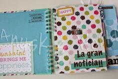 diario embarazo, diario embarazada, diario embarazo scrapbooking, agenda embarazo, album embarazo