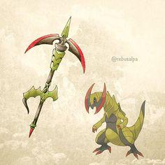 No. 612 - Haxorus. #pokemon #haxorus #anchorblade #pokeapon