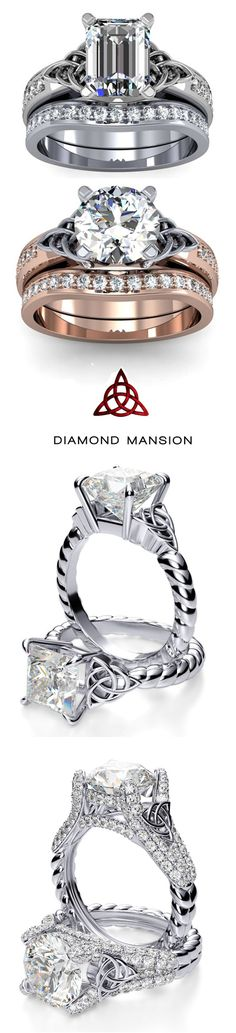 A collection of the most beautiful Celtic Knot engagement rings #DiamondRings #EngagementRings #Celtic #Wedding #rings
