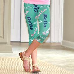 Girls Jade NAME Arden Capri Leggings