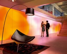 Phillips recently announced plans to develop LED-illuminated wallpapers that absorb sound and glow ina  palate of colors according to the user's specifications.