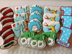 Dr. Seuss Cookies - @ Julie Cooper - perfect for Wy's bday