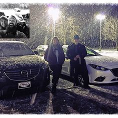 """The Barrett's came in to """"Experience The Difference"""" with Brody Johnson and Rochester Mazda.  The Barrett's are an extreme Mazda enthusiast. They have purchased several from Rochester Mazda. Their Loyalty never goes unnoticed.  We really want to thank the Barrett's for their most recent purchase of a 2016 Mazda CX5 and 2016 Mazda 3. Yes, both purchased at the same time. A His and Her's kind of thing!!!  It was a pleasure to serve their vehicle needs. www.RochesterMazda.com"""