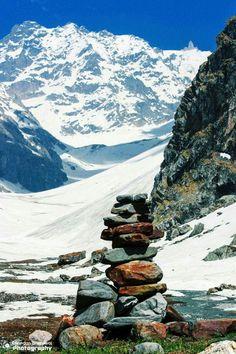 Find balance in life, and Life will find You! - Balu ka Ghera en-route Hampta Pass, Manali, Himachal Pradesh. #ShimlaLife