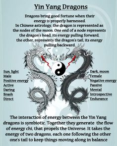 Yin Yang Dragons.... aware dragons are not necessary Pisces' Chinese sign depending on birth year, but the yin/yang representation is a worthwhile read : )