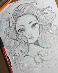 Wip sketch of #moana ! I love her so much!!! I cannot wait to see it! ♡♡♡ do you have a fav Disney Princess? --- LARIENNE.DEVIANTART.COM --