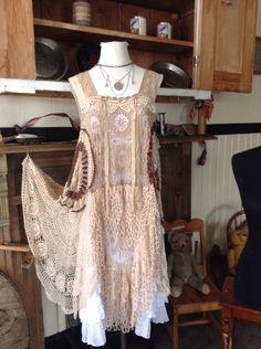 Luv Lucy Crochet Dress 1920 Flapper Dress