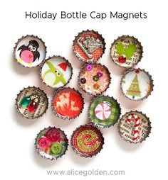 Adorable bottle-cap magnets!