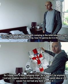 He's an inventor. | Community Post: 33 Reasons Why Karl Pilkington Is A Lovable Div