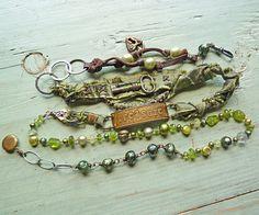Etsy Transaction - Reserve Listing for Arlene - Treasure Bracelet/Necklace Wrap Jewelry Crafts, Jewelry Art, Beaded Jewelry, Jewelry Bracelets, Handmade Jewelry, Recycled Jewelry, Bangle Bracelet, Jewelry Ideas, Mixed Media Jewelry