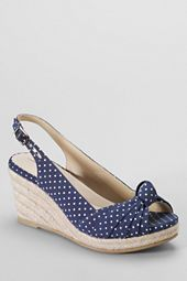 Womens Parker Mid Wedge Knotted Espadrilles/Ok, so I got over my shoe compulsion years ago, but this could revive it.