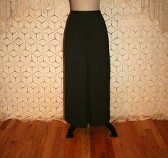 Olive Drab Army Green Maxi Skirt Long Pencil by MagpieandOtis
