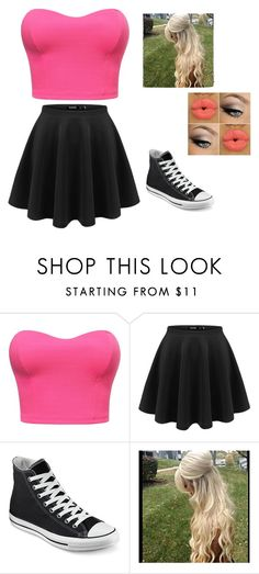 """""""Going to the skating rink"""" by kiana-champ ❤ liked on Polyvore featuring Converse"""