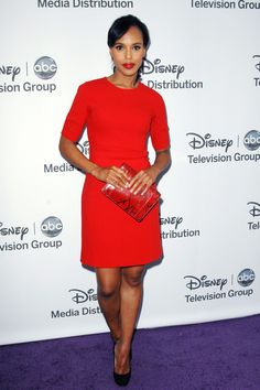 Kerry Washington, Red on red Star Fashion, Womens Fashion, Olivia Pope, Kerry Washington, Mode Chic, Evening Outfits, Vogue, Work Wardrobe, Hollywood Glamour