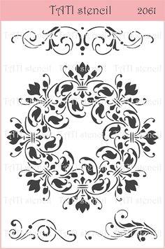 - А5, 20 х 15 см - Трафарет гибкий TATI stencil 2061