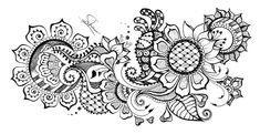 Flowers Doodle (2) - Doodle is Art