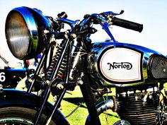 Photograph Norton motorcycle handlebar and tank by Felix Padrosa on 500px