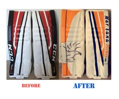 Martana Hockey's first custom goalie pad design application. Get yours today at http://MartanaHockey.com !!