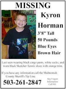 #Missing Kyron Horman