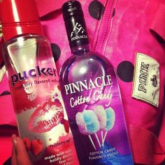 raspberry pucker and cotton candy pinnacle good mix :)