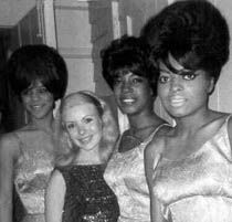 Diane & The Original Supremes  backstage at Dick Clark Show  Steel Pier, Atlantic City.	1