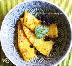 Gebratene Ananas mit Kurkuma, Zimt & Ingwer