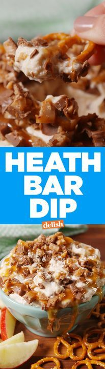 Heath bar lovers, this dip was made just for you. Get the recipe from Delish.com.